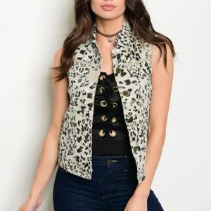 Jackets & Blazers - Final Clearance 🎉 Dolled Up Animal Print Vest